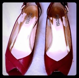 Maroon Patent Leather Sandal
